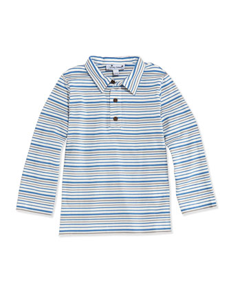 Multi-Striped Long-Sleeve Polo, 3M-12Y