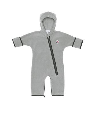 Hooded Fleece Coverall, Gray, 3M-3T