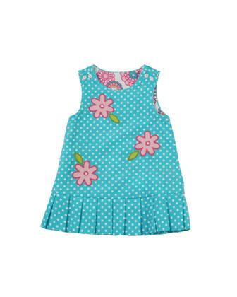 Reversible Floral Corduroy Dress, 12-24 Months