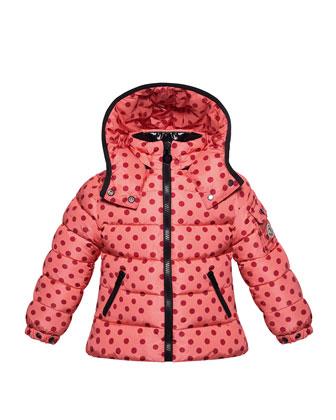 Bady Polka-Dot Puffer Jacket, Pink, Sizes 2-6