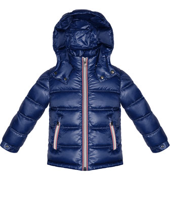 Gaston Hooded Quilted Jacket, Blue, Sizes 8-14