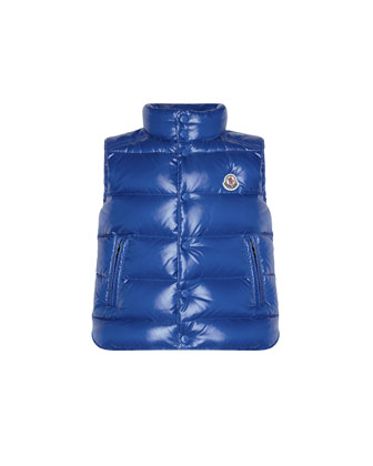 Tib Quilted Puffer Vest, Blue, Sizes 8-14