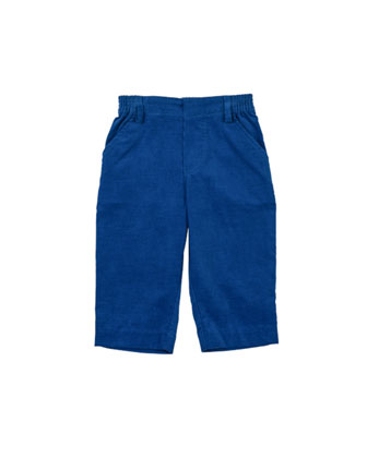 Cotton Corduroy Pants, Royal, 2T-4T