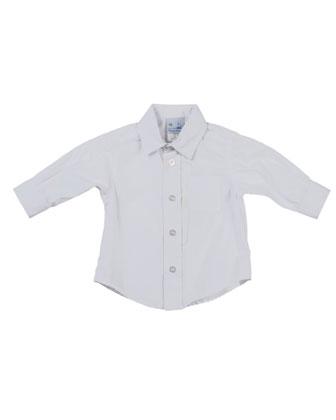 Photo-Op Button-Down Shirt, White, 2T-4T