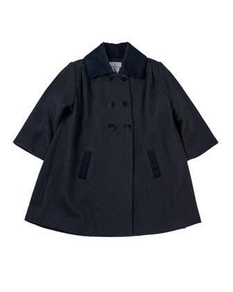 Classic Pea Coat, Navy, 2T-3T