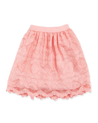 Lace Organza Skirt, Pink, Sizes 2-4
