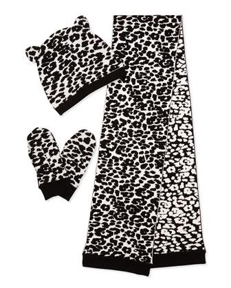 Cheetah-Print 3-Piece Knit Box Set, Girls' M-L