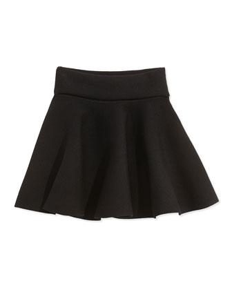 Knit Pull-On Skirt, Black, Sizes 2-7