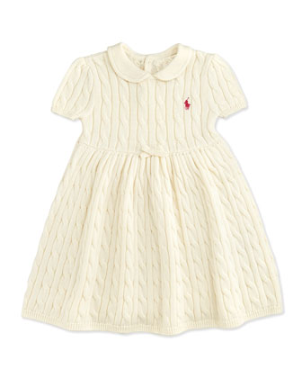 Cable-Knit Dress, Essex Cream, 9-24 Months