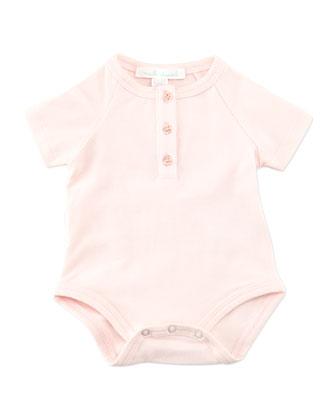 Angel Wing Short-Sleeve Bodysuit, Pink, 0-18 Months