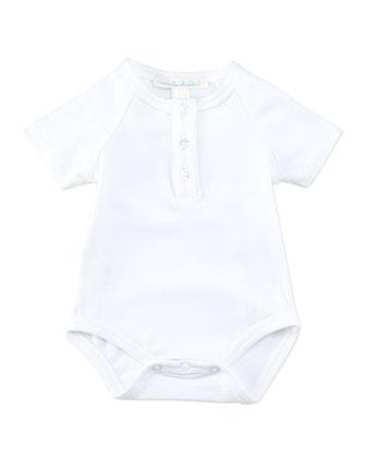 Angel Wing Short-Sleeve Bodysuit, White, 0-18 Months
