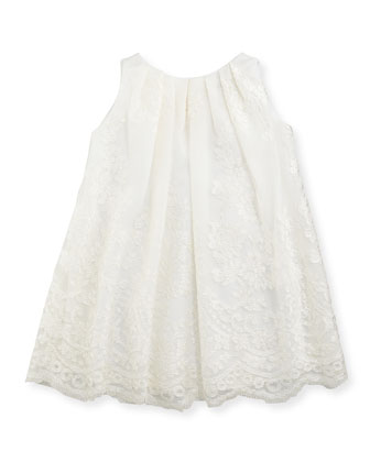 Sleeveless Lace Dress, Ivory, 6-24 Months