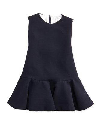 Ruched Chiffon Dress, Navy, Sizes 2T-4T