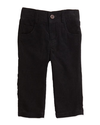 Corduroy Pants, Black, 3-24 Months