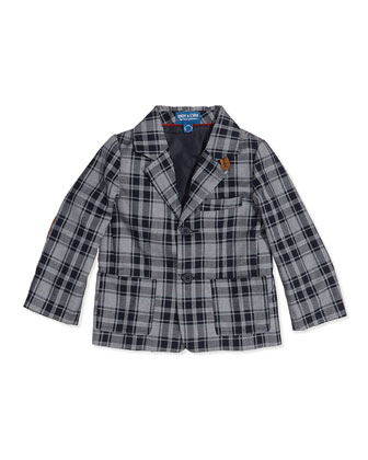 Plaid Two-Button Blazer, 3-24 Months