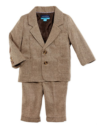 Herringbone Two-Piece Suit, 3-24 Months