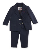 Three-Piece Suit, Navy, 2T-7Y