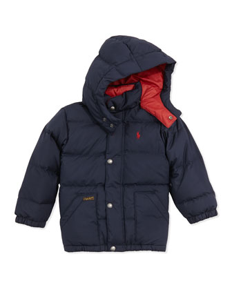 Elmwood Quilted Puffer Jacket, Aviator Navy, 2T-3T