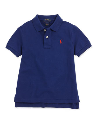 Stretch-Mesh Polo, Fall Royal, 2T-3T