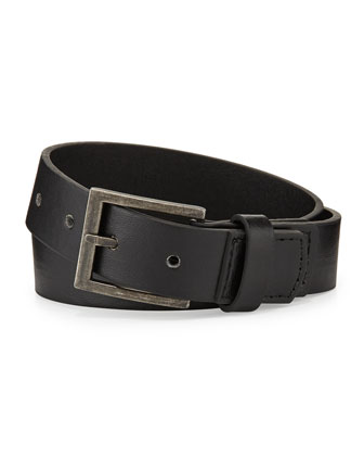 Boys' Faux-Leather Belt, Black, 6-24 Months