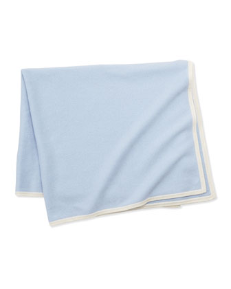 Cashmere Baby Blanket, Blue