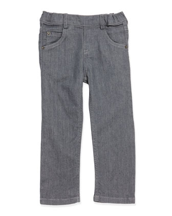Toddler Boys' Stretch-Denim Jeans, Gray