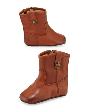Melissa Button Bootie, Cognac, Infant/Toddler
