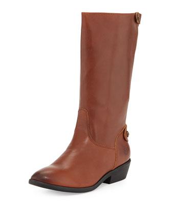 Girls' Melissa Button Back-Zip Boot, Tan