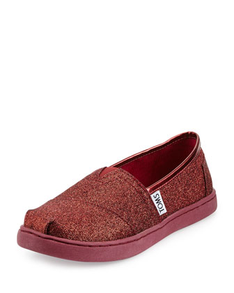 Classic Glimmer Shoe, Red, Youth