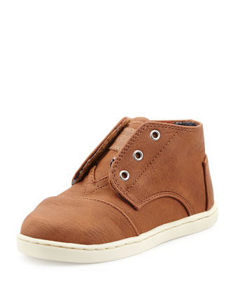 Padeo-Mid Leather Hi-Top, Brown, Tiny