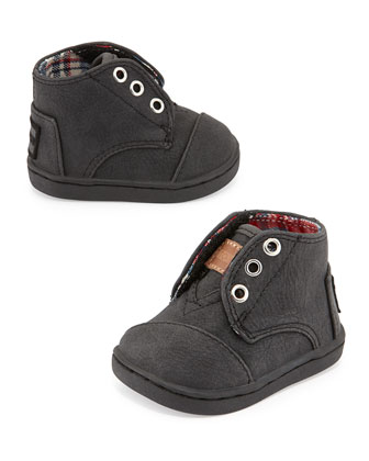 Paseo-Mid Vegan-Leather High-Top, Black, Tiny