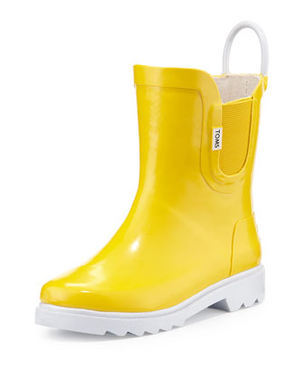 Rubber Rain Boot, Yellow, Youth