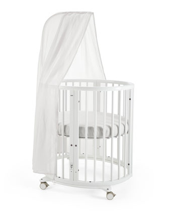 Sleepi Mini Baby Crib Bundle, Canopy for Stokke Sleepi Crib, Fitted Sheet ...