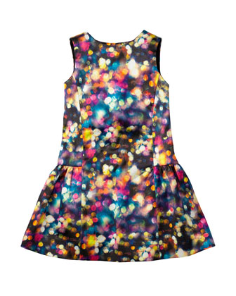Glitter Bow Party Dress, Multi, Sizes 8-14
