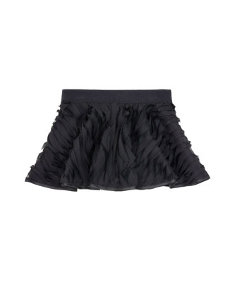 Mille-Feuille Circle Skirt, Black, Sizes 2-7