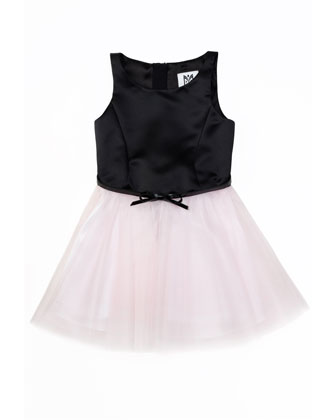 Sully Satin & Tulle Party Dress, Blush, Sizes 8-14
