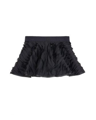 Mille-Feuille Circle Skirt, Black, Sizes 8-14