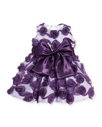 Girls' Rosette Holiday Dress