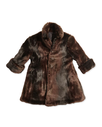 Reversible Faux-Fur Coat, Sizes 2T-4T