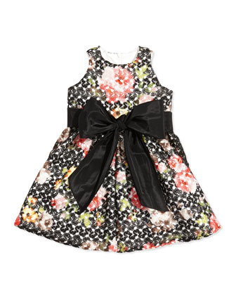 Floral-Crochet Princess Dress, Sizes 7-12