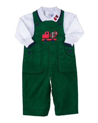 Truck Corduroy Overalls & Long-Sleeve Polo, 12-24 Months