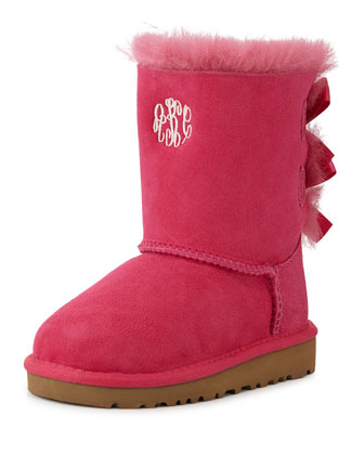 Bailey Boot with Bow, Cerise, Toddler