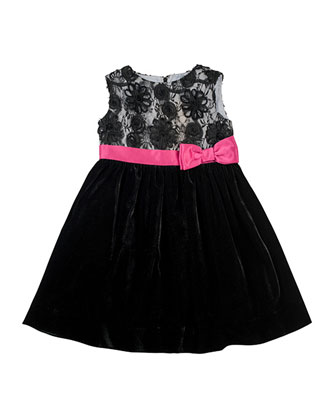 Lace & Velvet Dress, Sizes 4-6X