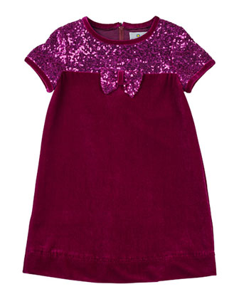 Velvet & Sequined Dress, Sizes 4-6X