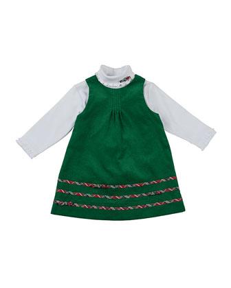Corduroy Dress & Long-Sleeve Turtleneck Set, Sizes 4-6X