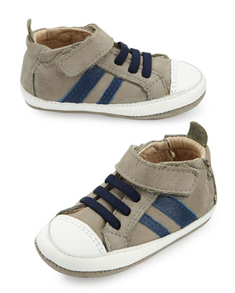 Soft Leather Sneakers with Laces, Infant/Toddler