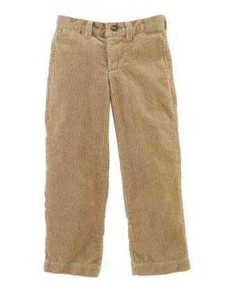 8-Wale Corduroy Pants, Khaki, Sizes 2-7