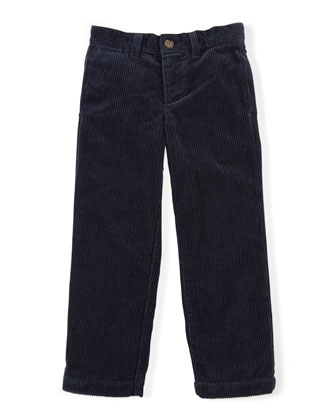 8-Wale Corduroy Pants, Aviator Navy, Sizes 2-7