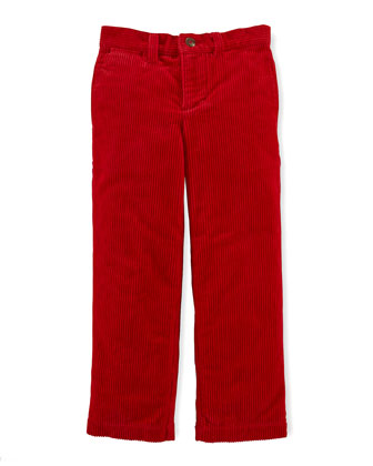 8-Wale Corduroy Pants, Ralph Red, Sizes 2-7