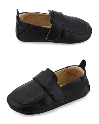Soft Leather Loafer, Black, Infant/Toddler